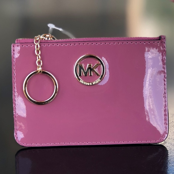 37008fce1cef Michael Kors Accessories | Fulton Coin Pouch Id Keychain Tulip ...